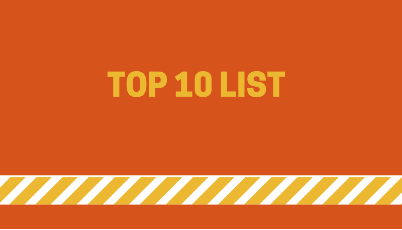 Top 10 List – Why Get Drunk on Writing (Instead)